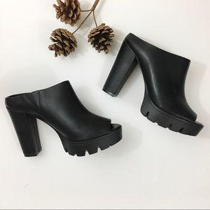 Nine West chunky slip on shoes